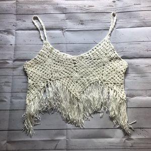 Garage Boho Crochet Tank Top